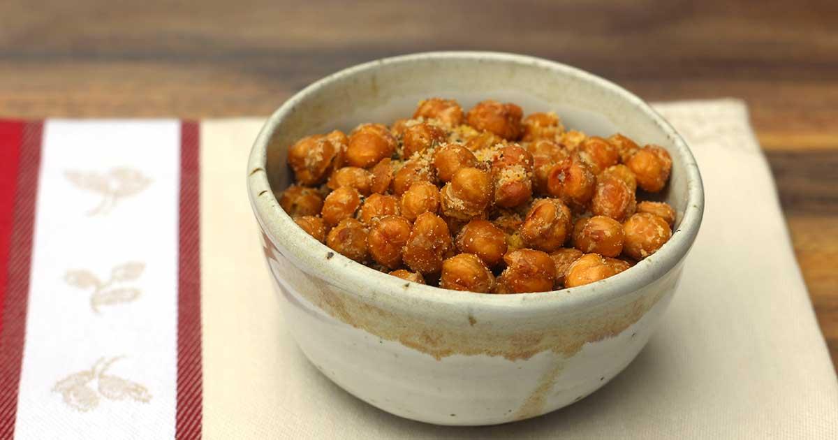 garbanzos asados con ajo y pimentón